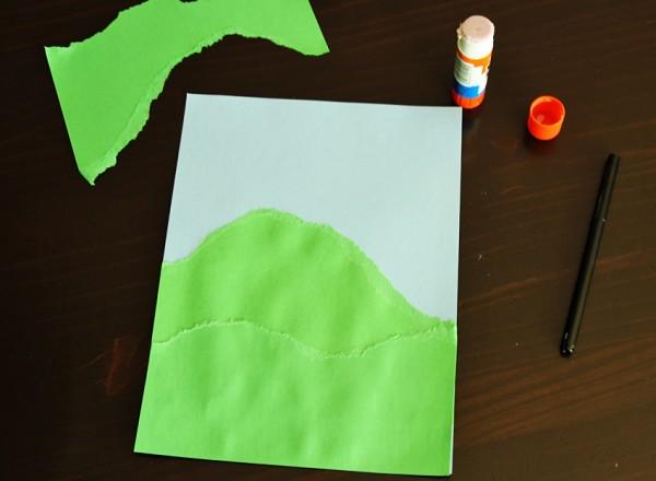 Torn paper hills