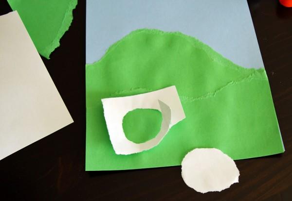 Torn paper sheep