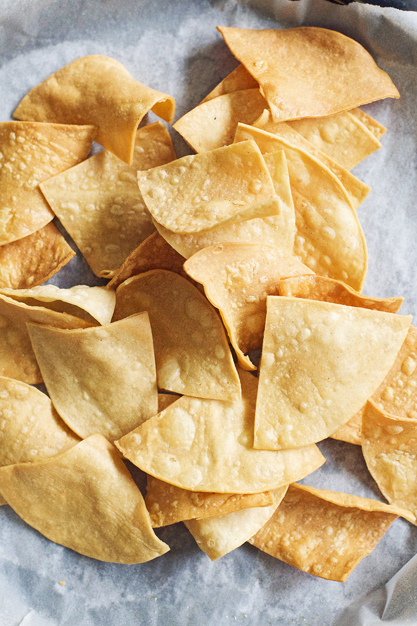 Crispy Homemade Tortilla Chips Yum!