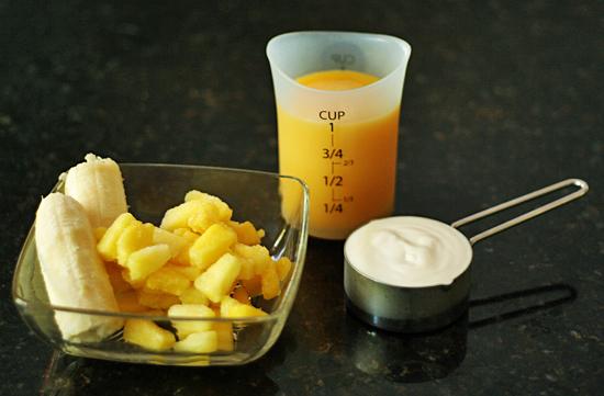 Tropical smoothie ingredients