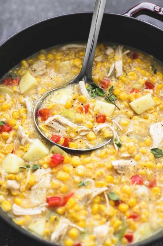 Leftover Turkey Corn Chowder