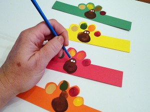 Fingerprint Turkey Napkin Rings-step-4