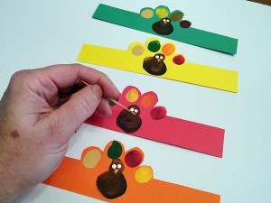 Fingerprint Turkey Napkin Rings-step-5