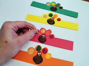 Fingerprint Turkey Napkin Rings-step-6