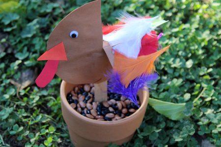 Turkey stick puppet craft for kids