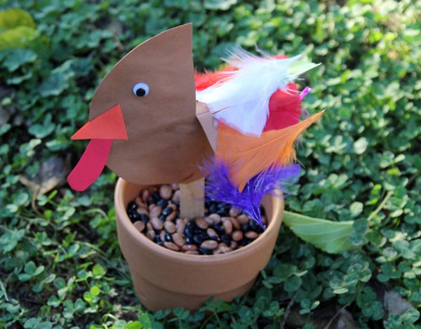 Turkey stick puppet craft for kids