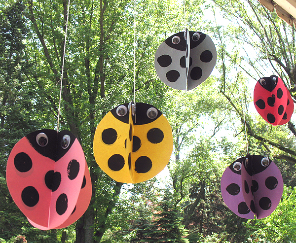 Twirly Paper Ladybugs