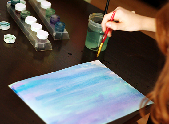 Underwater Silhouette Paintings | Make and Takes