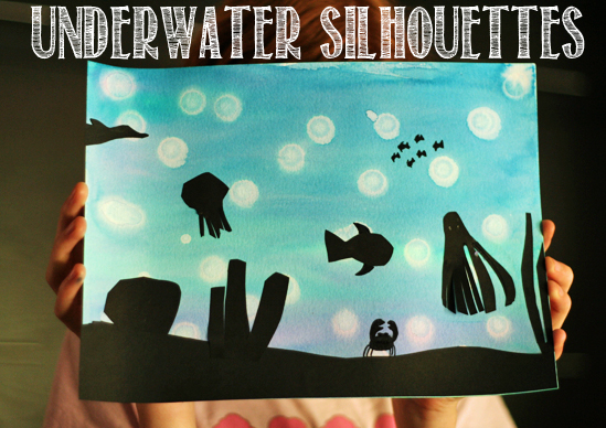 Underwater silhouette paintings
