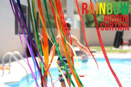 Rainbow Ribbon Curtain