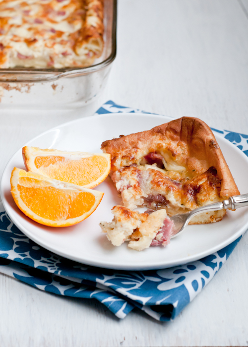 Recipe for Ham and Cheese Puff Pancake