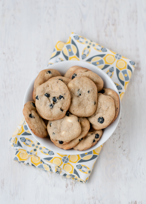 Dried Blueberry Cookies with White Chocolate Chips and Lemon