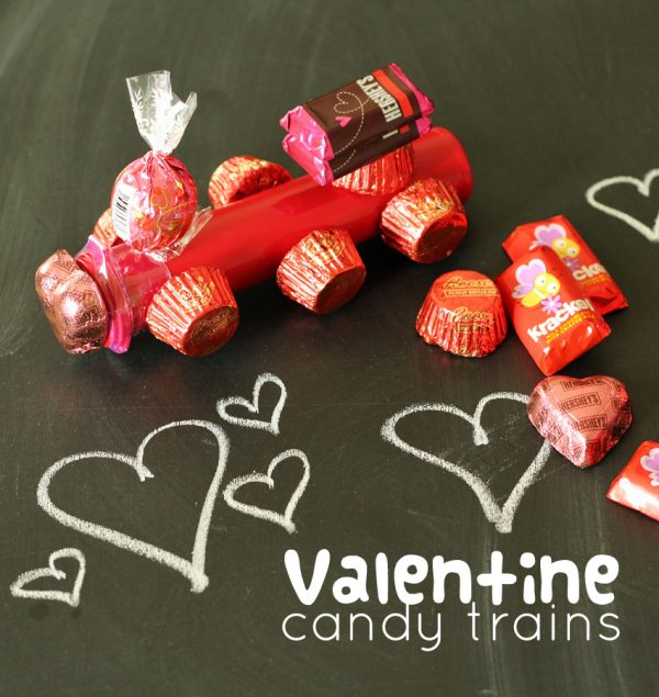 Valentine candy trains