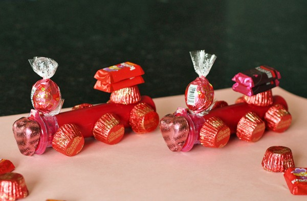 Valentine candy trains for kids