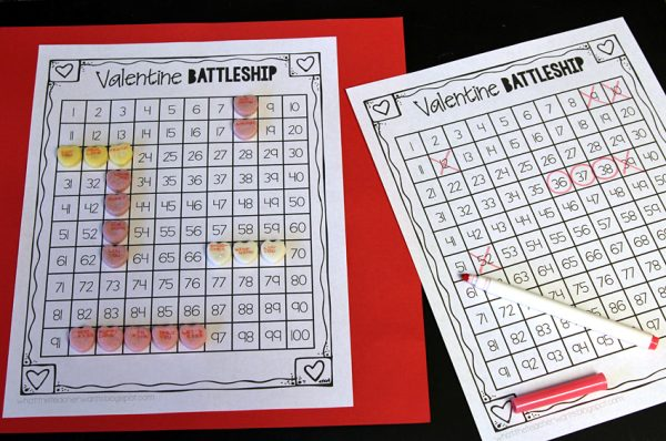 Valentine Battleship game