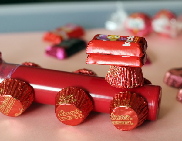 Valentine candy train craft project