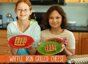 Kids in the Kitchen: Waffle Iron Grilled Cheese