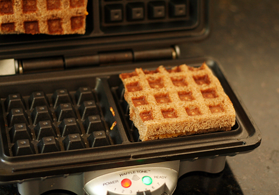 Simple waffle grilled cheese