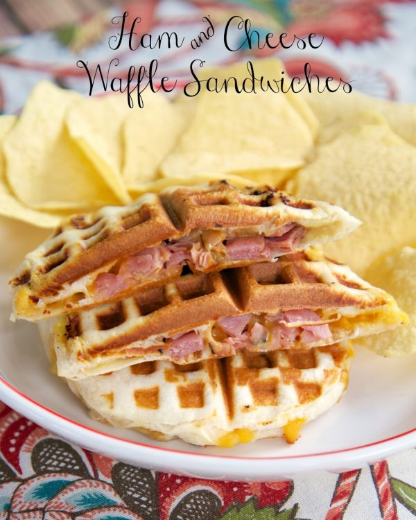 Ham & Cheese Waffle Sandwiches