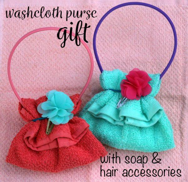 DIY Washcloth Purse - fun gift for kids!