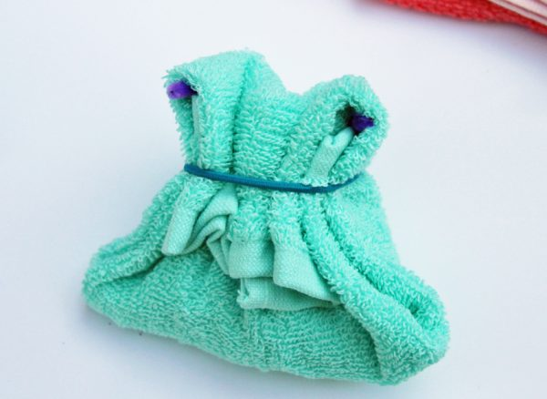 Cute washcloth purse gift idea