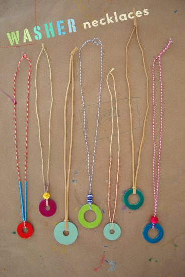 DIY Washer Necklaces
