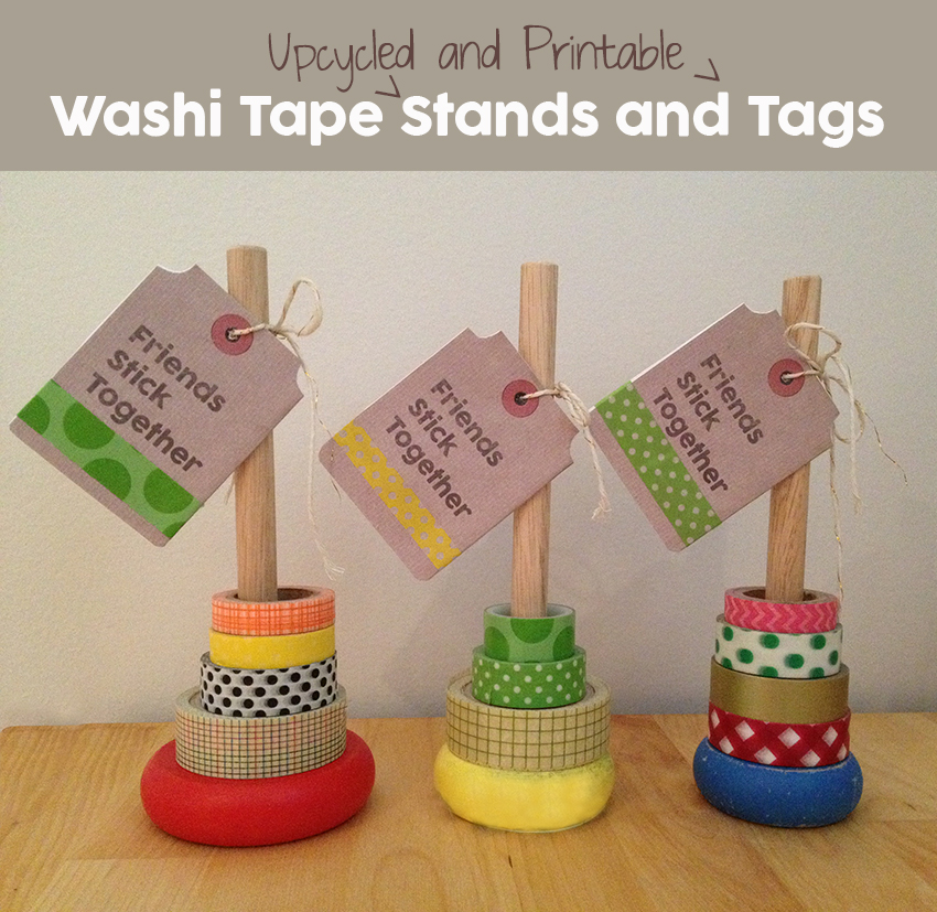 washi-tape DIY Organization Stand