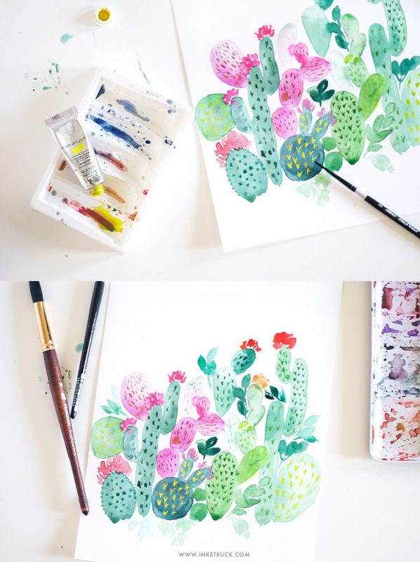 Cactus Painting Tutorial