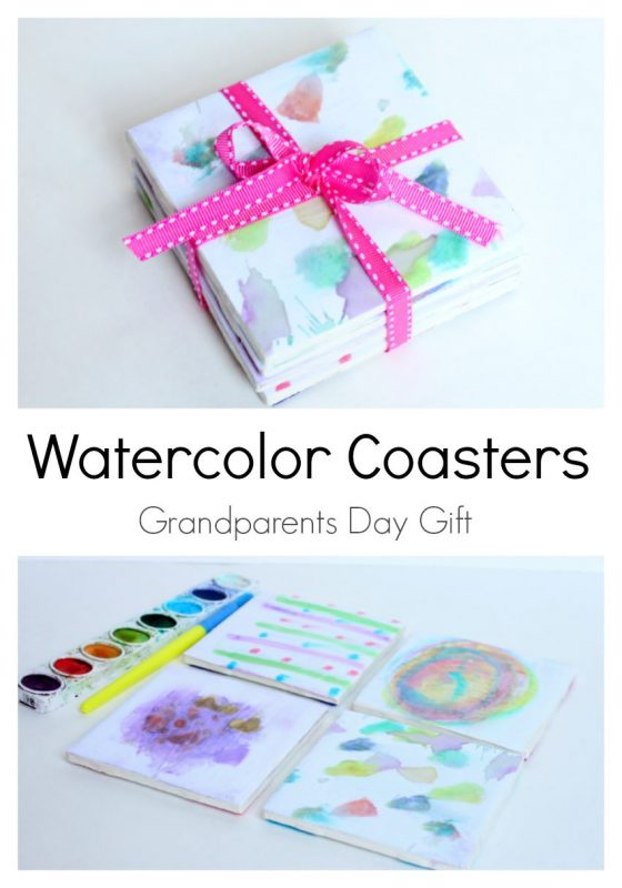 Water Color Coasters Grandparents Day Gift