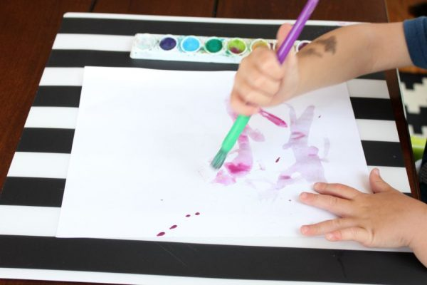 watercolor craft for kids