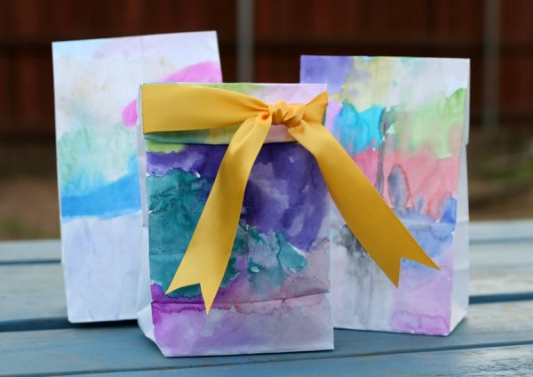 Watercolor gift bags