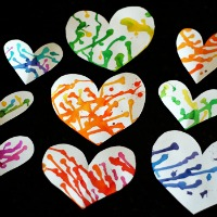 Puddle Painted Hearts