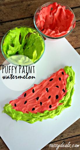 Puffy Paint Watermelon Craft