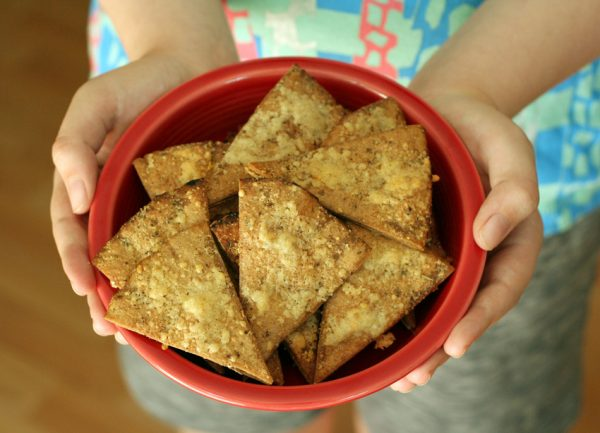 Whole Wheat Parmesan Pita Chips