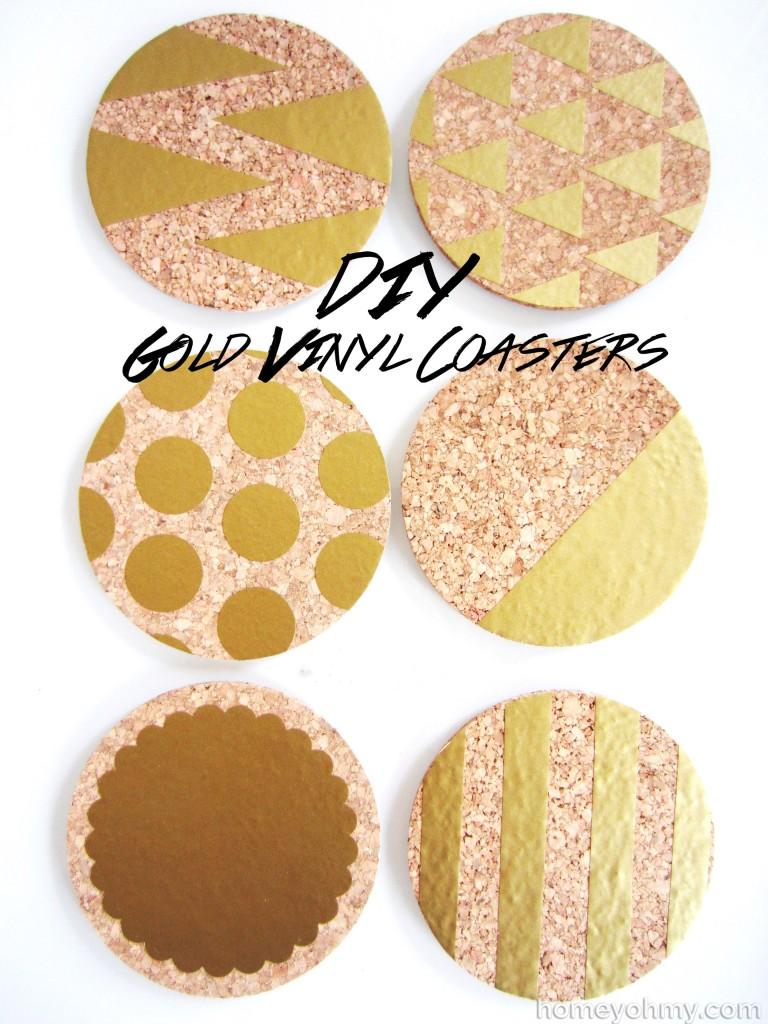Gold Vinyl Coasters
