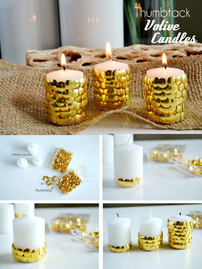 Thumbtack Votive Candles