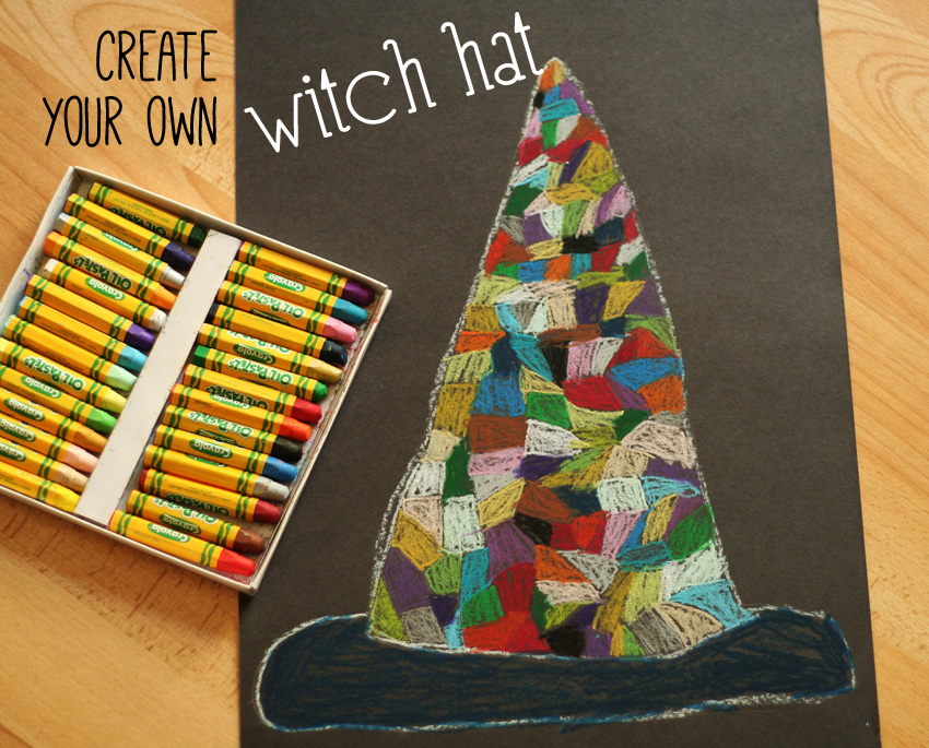 Oil Pastel Witch Hat Drawings Make And Takes
