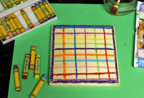 Wood desk calendar craft for kids
