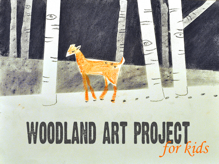 Classroom Decor Projects ~ Woodland art project for kids make and takes