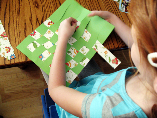 paper weaving for kids