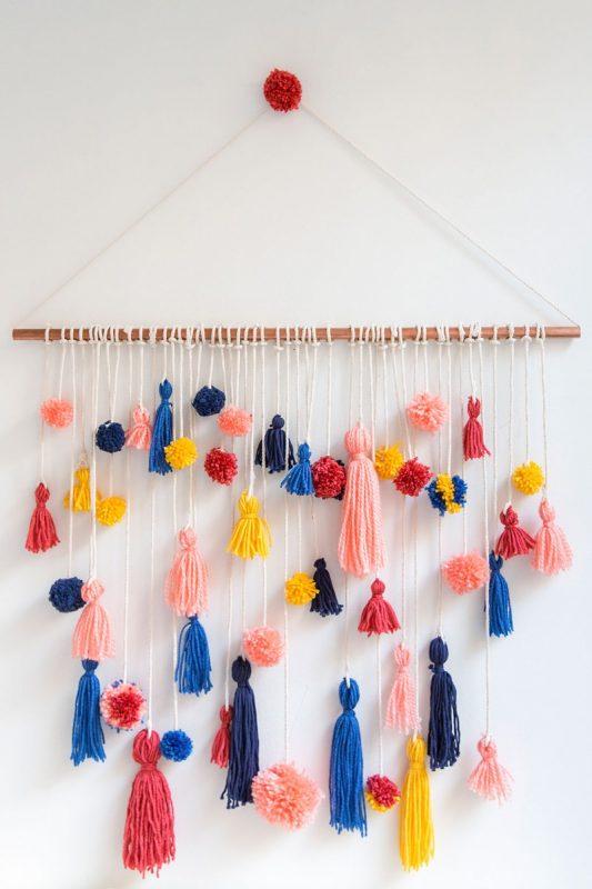 Pom-Pom Tassel Wall Hanging