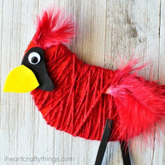 Yarn Wrapped Cardinal