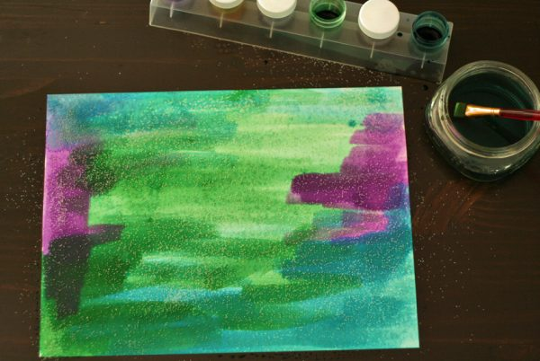 Salty watercolor painted background