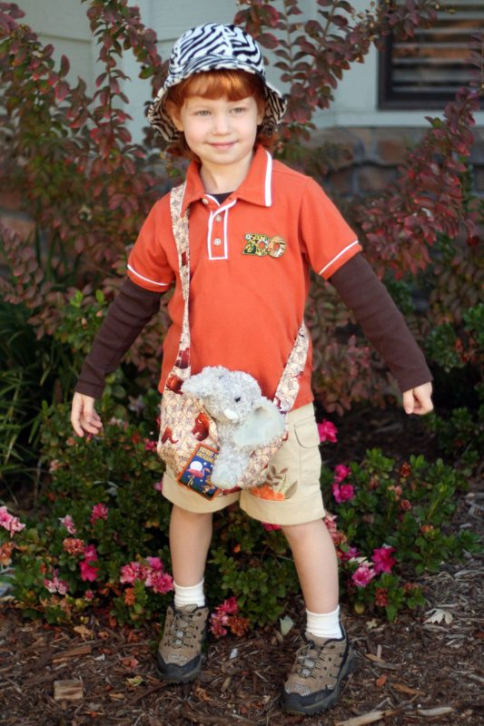 Use regular clothes and fun accessories to create a zoo keeper Halloween costume!
